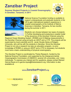Summer Projects in Coastal Oceanography