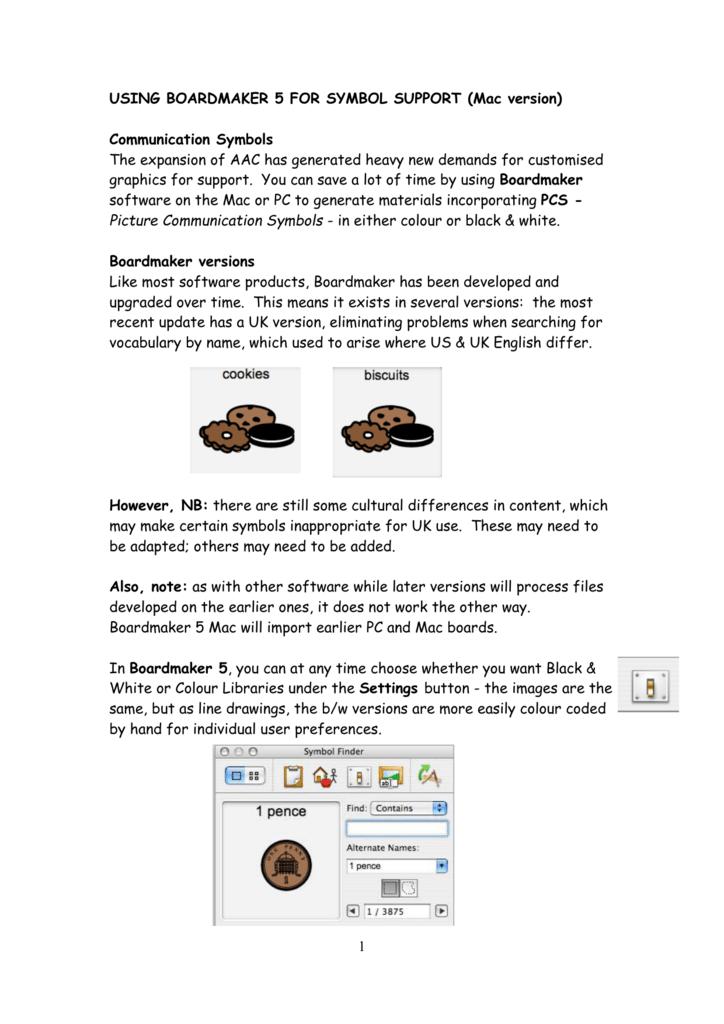 Using Boardmaker 5 For Symbol Support Mac Version