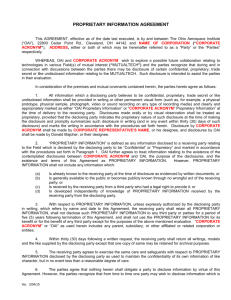 confidentiality agreement - Ohio Aerospace Institute