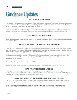 Guidance Updates - Greensburg Community High School