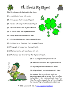 St. Patrick`s Day Rhymes