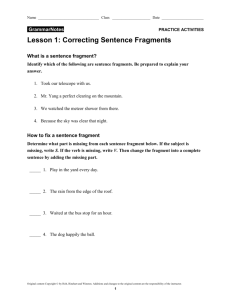 Lesson 1 - TeacherWeb