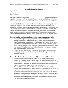 Sample Teacher Letter - Colorado Department of Education