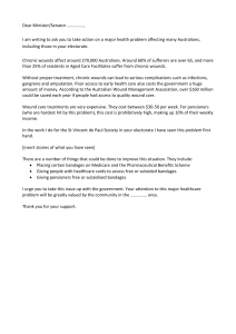 Wound care campaign- template letter to MPs