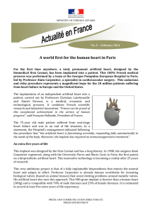A world first for the human heart in Paris