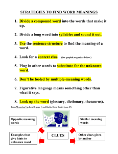 STRATEGIES TO FIND WORD MEANINGS