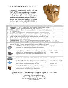 PACKING MATERIAL PRICE LIST