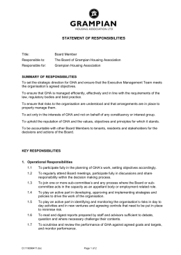 Statement of Responsibilities - Grampian Housing Association