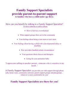 Family Support Specialists