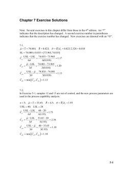 Chapter 7 Exercise Solutions