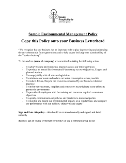 Sample Environmental Management Policy