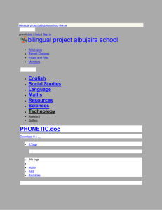bilingual project albujaira school - PHONETIC