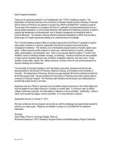 Dear Prospective Resident - University of Colorado Denver