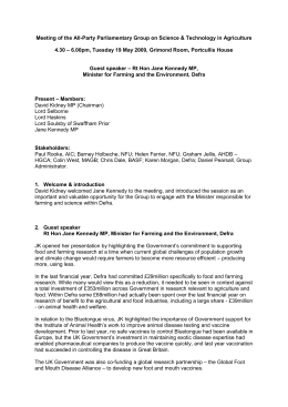 Minutes - All-Party Parliamentary Group on Science & Technology in