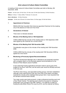 Minutes of the Meeting Held 8th December 2008