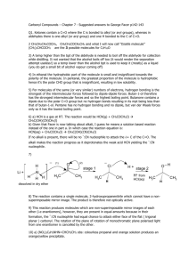 Carbonyl Compounds – Chapter 7 - Suggested answers to George