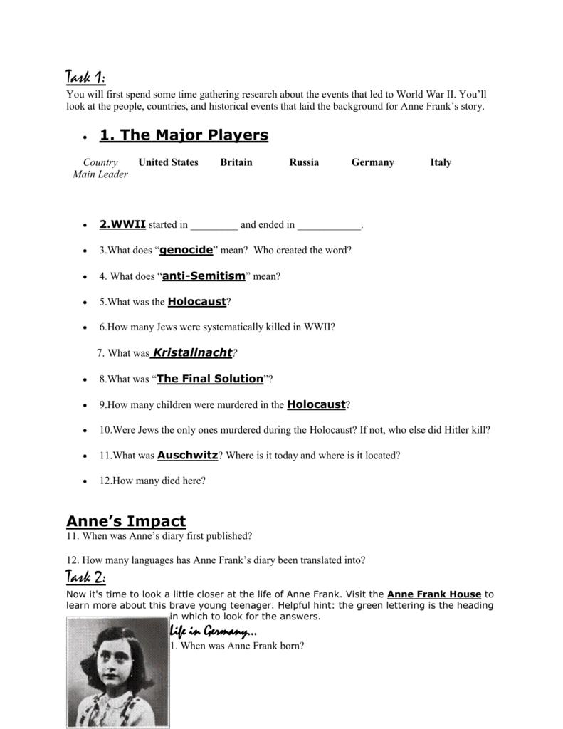 The Holocaust Worksheet Answers Worksheet List [ 1024 x 791 Pixel ]
