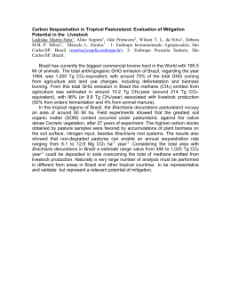 Carbon Sequestration in Tropical Pastureland: Evaluation of