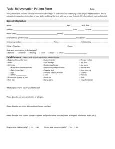 Facial Rejuvenation Patient Form Date