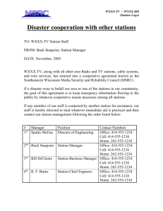 Disaster cooperation with other stations
