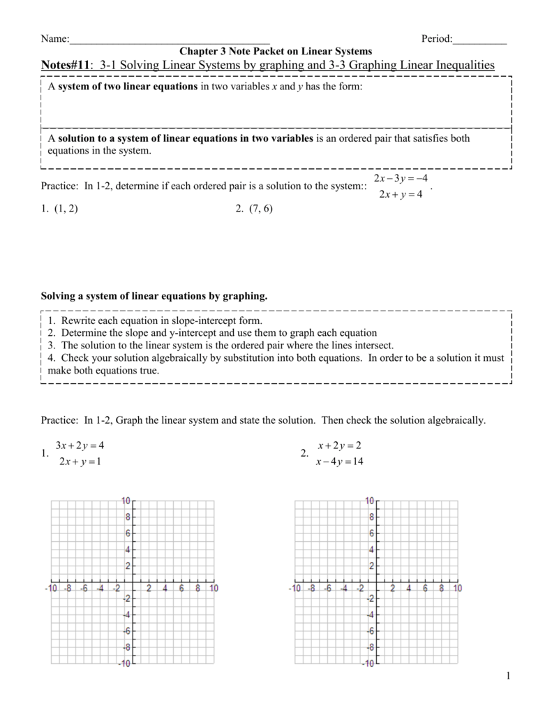 Chapter 3 note packet on linear systems falaconquin
