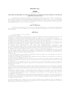 229/2004 Coll. DECREE of 20 April 2004, laying down the