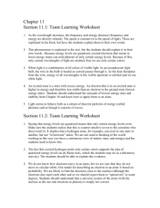 Team Learning Worksheet Answer