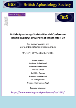 here. - British Aphasiology Society