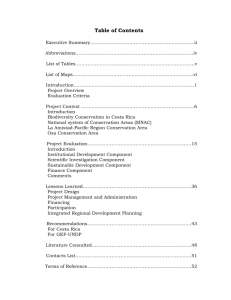 Table of Contents - Global Environment Facility