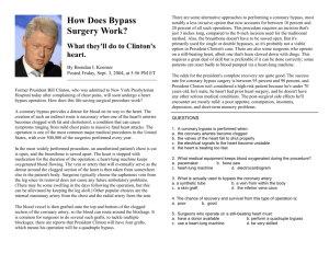 How Does Bypass Surgery Work? What they`ll do to Clinton`s heart