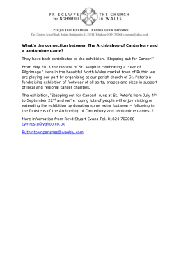 What`s the connection between The Archbishop of Canterbury and a