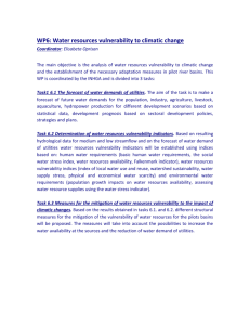 WP6: Water resources vulnerability to climatic change