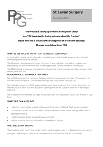 Patient Participation Group (PPG) Leaflet