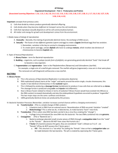 2. AP Biology Organismal Development Part 1 Outline