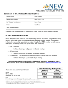 2016 Statement for Retiree Dues