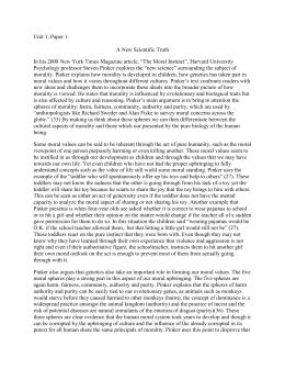 Steven pinker the moral instinct essay