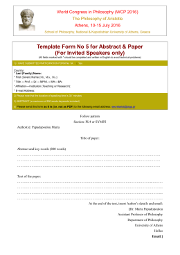 5. Template Form for Abstract & Paper
