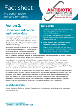 Antibiotic Awareness Week - Fact Sheet