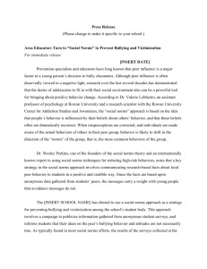 Middle School – Bullying Press Release