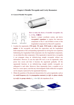 Chapter 6 Metallic Waveguide and Cavity Resonators