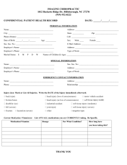 New Patient Form 1