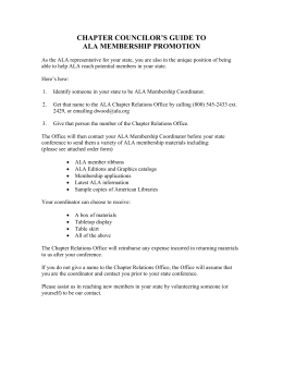 Chapter Councilor`s Guide to ALA Membership Promotion