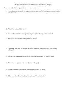 "Study Guide Questions for ""Occurrence at Owl Creek Bridge"""