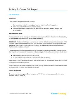 student career cruising overview career cruising resume builder
