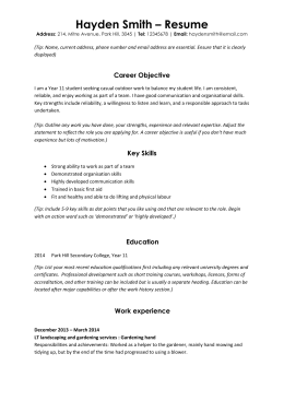 Student resume (Word, 44KB)