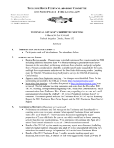 Notes - Tuolumne River TAC Website