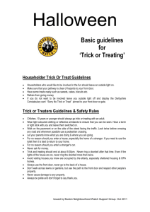 Householder Trick Or Treat Guidelines
