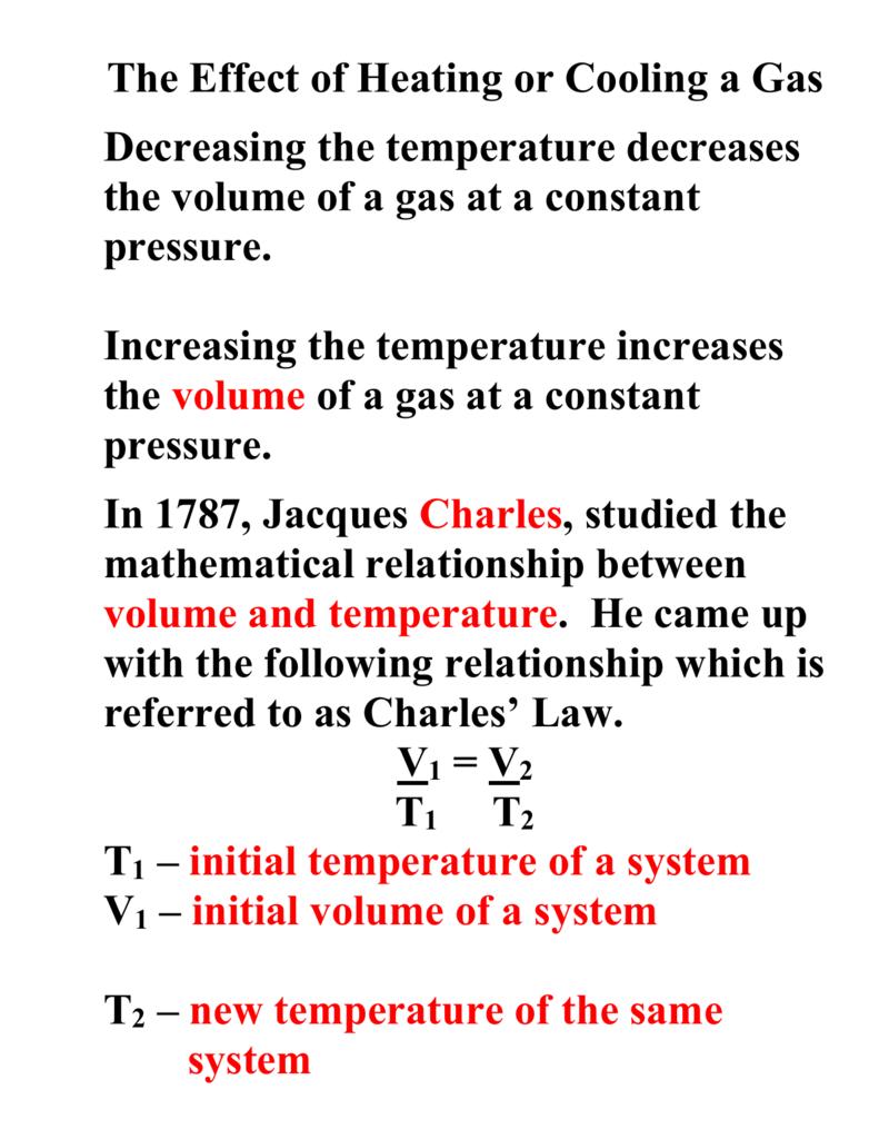 Charles Law Worksheet