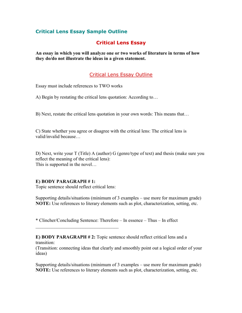 How to write a college essay outline method