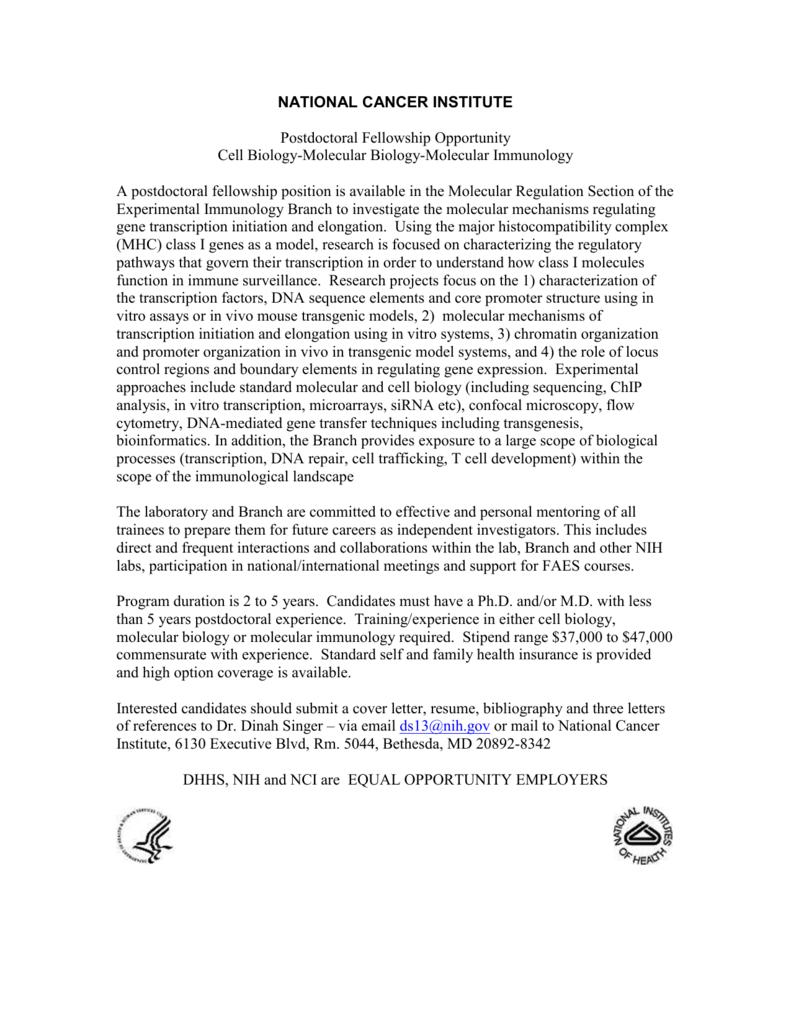cover letter molecular biology postdoc